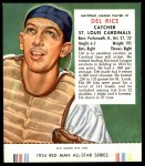 1954 Red Man #9 NL Del Rice  Front Thumbnail