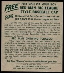 1954 Red Man #8 NL Andy Pafko  Back Thumbnail