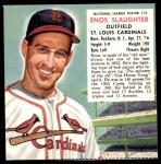 1953 Red Man #13 NL x Enos Slaughter  Front Thumbnail