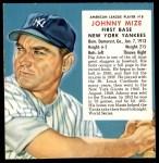 1953 Red Man #18 AL x Johnny Mize  Front Thumbnail