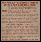 1953 Red Man #24 AL x Al Rosen  Back Thumbnail