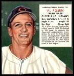 1953 Red Man #24 AL x Al Rosen  Front Thumbnail