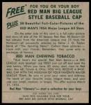 1954 Red Man #22 AL Ferris Fain  Back Thumbnail