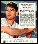 1954 Red Man #22 AL Ferris Fain  Front Thumbnail