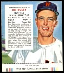 1954 Red Man #2 AL Jim Busby  Front Thumbnail