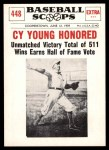 1961 Nu-Card Scoops #448   -   Cy Young  Cy Young Honored Front Thumbnail