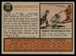 1962 Topps #243  Robin Roberts  Back Thumbnail