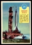 1963 Topps Astronauts 3D #31   Mercury Atlas 4 Front Thumbnail