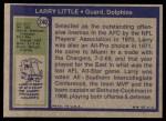 1972 Topps #240  Larry Little  Back Thumbnail