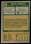 1971 Topps #83  Doug Roberts  Back Thumbnail