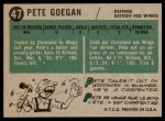1958 Topps #47  Pete Goegan  Back Thumbnail