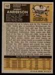 1971 Topps #162  Donny Anderson  Back Thumbnail