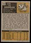 1971 Topps #167  Pete Gogolak  Back Thumbnail
