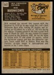 1971 Topps #147  Nick Buoniconti  Back Thumbnail