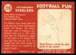 1958 Topps #116   Steelers Team Back Thumbnail