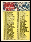 1970 Topps #9   Football Checklist 1 Front Thumbnail