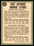 1967 Topps #412   -  Doug Rader / Norm Miller Astros Rookies Back Thumbnail
