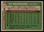 1976 Topps #406  Ed Herrmann  Back Thumbnail
