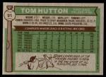 1976 Topps #91  Tom Hutton  Back Thumbnail