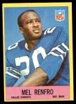 1967 Philadelphia #59  Mel Renfro  Front Thumbnail