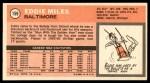 1970 Topps #159  Eddie Miles   Back Thumbnail