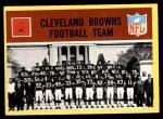 1967 Philadelphia #37   Cleveland Browns Team Front Thumbnail