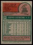 1975 Topps #294  Geoff Zahn  Back Thumbnail
