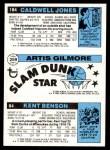 1980 Topps   -  Kent Benson / Artis Gilmore / Caldwell Jones 84 / 259 / 184 Back Thumbnail