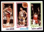 1980 Topps   -  Tom Owens / Norm Nixon / Darryl Dawkins 201 / 134 / 180 Front Thumbnail