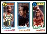 1980 Topps   -  Gus Williams / Geoff Huston / John Drew 12 / 67 / 5 Front Thumbnail