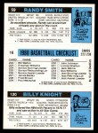 1980 Topps   -  Billy Knight / Paul Westphal / Randy Smith 120 / 16 / 59 Back Thumbnail