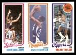 1980 Topps   -  Kareem Abdul-Jabbar / David Thompson / Brian Taylor 135 / 79 / 216 Front Thumbnail