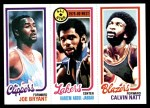 1980 Topps   -  Joe Bryant / Kareem Abdul-Jabbar / Calvin Natt 217 / 8 / 200 Front Thumbnail