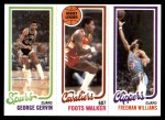 1980 Topps   -  George Gervin / Foots Walker / Freeman Williams 208 / 53 / 223 Front Thumbnail