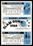 1980 Topps   -  Rich Kelley / Bobby Jones / Moses Malone 192 / 263 / 107 Back Thumbnail