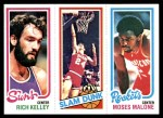 1980 Topps   -  Rich Kelley / Bobby Jones / Moses Malone 192 / 263 / 107 Front Thumbnail