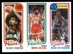 1980 Topps   -  Mickey Johnson / Tree Rollins / Micheal Ray Richardson 112 / 28 / 15 Front Thumbnail