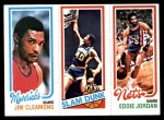 1980 Topps   -  Jim Cleamons / James Edwards / Eddie Jordan 63 / 261 / 157 Front Thumbnail