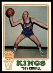 1973 Topps #37  Toby Kimball  Front Thumbnail