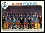 1978 Topps #196   Rockies Team Checklist Front Thumbnail