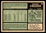1971 O-Pee-Chee #36  Roger Crozier  Back Thumbnail