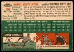 1954 Topps #34 WHT Jim Rivera  Back Thumbnail