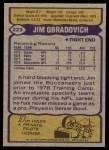 1979 Topps #223  Jim O'Bradovich  Back Thumbnail