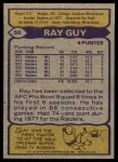1979 Topps #50  Ray Guy  Back Thumbnail