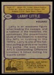 1979 Topps #60  Larry Little  Back Thumbnail
