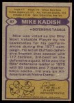 1979 Topps #87  Mike Kadish  Back Thumbnail
