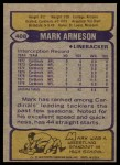 1979 Topps #408  Mark Arneson  Back Thumbnail
