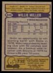 1979 Topps #435  Willie Miller  Back Thumbnail