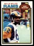 1979 Topps #435  Willie Miller  Front Thumbnail
