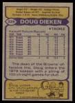 1979 Topps #329  Doug Dieken  Back Thumbnail